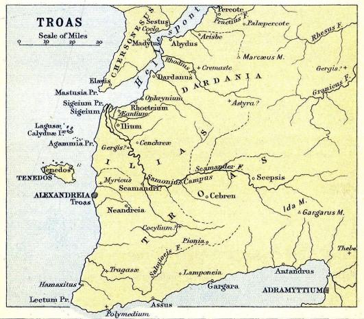 Cartina della Troade